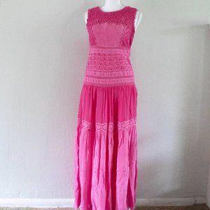 Floreat Anthropologie Pink Boho Dress (size 2)